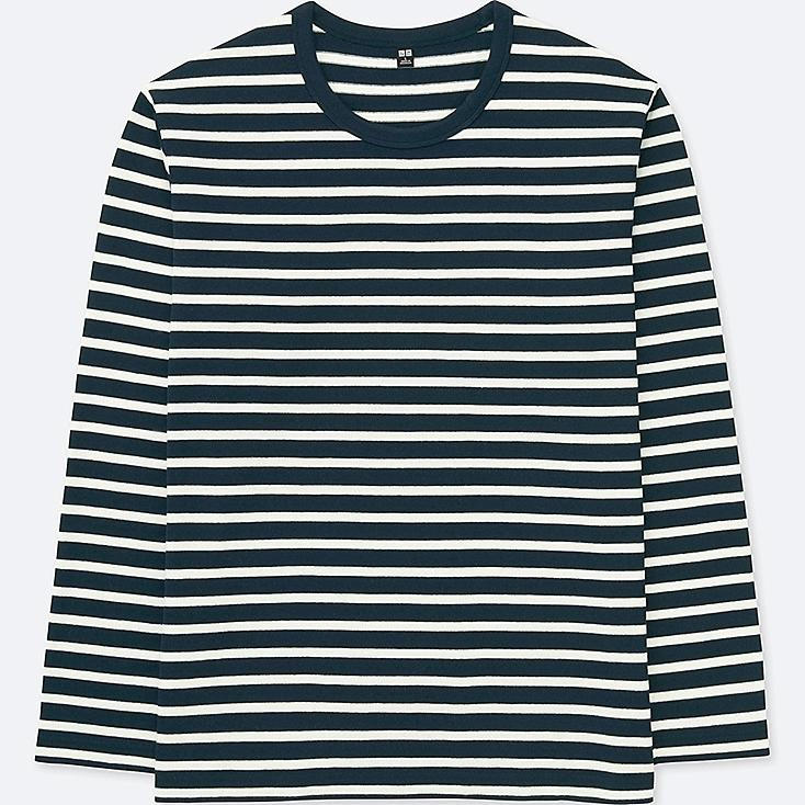 MEN WASHED STRIPED LONG-SLEEVE T-SHIRT  afe9ab1f1