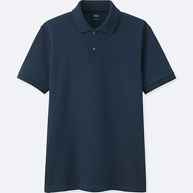 MEN DRY PIQUE SUPIMA COTTON SHORT SLEEVED POLO SHIRT