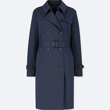 WOMEN TRENCH COAT, NAVY, medium