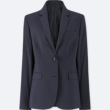 WOMEN STRETCH JACKET (ONLINE EXCLUSIVE), NAVY, medium