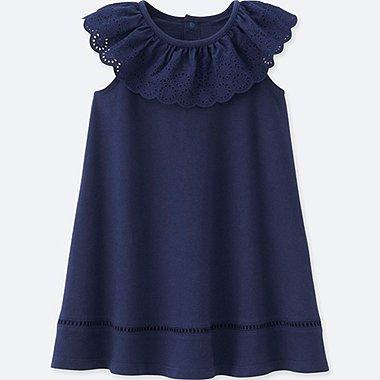 TODDLER SLEEVELESS DRESS, NAVY, medium