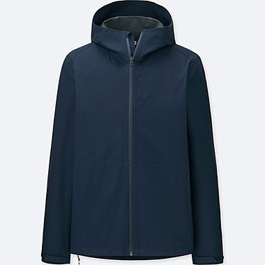 MEN BLOCKTECH HOODED RAINCOAT PARKA