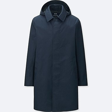 MEN BLOCKTECH CONVERTIBLE COLLAR COAT, NAVY, medium
