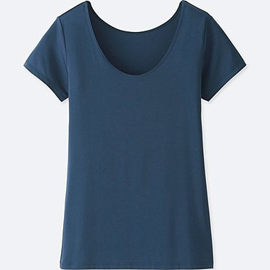 WOMEN AIRISM SCOOP NECK SHORT SLEEVED T-SHIRT