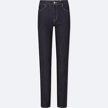 WOMEN HIGH-RISE SLIM-FIT JEANS (ONLINE EXCLUSIVE), NAVY, medium