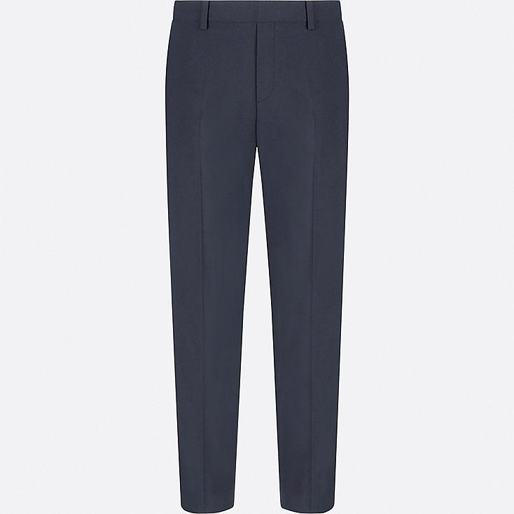 WOMEN SMART STYLE ANKLE LENGTH PANTS, NAVY, large