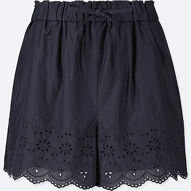 WOMEN Eyelet Shorts