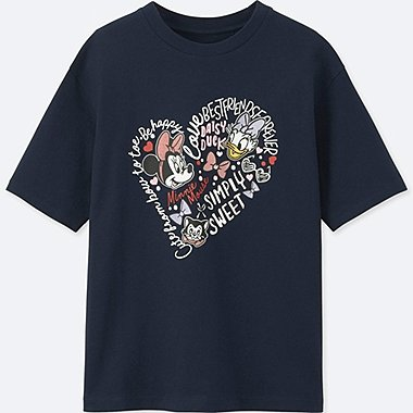 WOMEN MINNIE MOUSE BEST FRIENDS FOREVER SHORT-SLEEVE GRAPHIC T-SHIRT, NAVY, medium