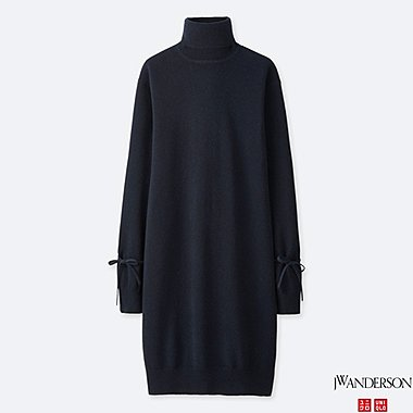 WOMEN J.W.ANDERSON CACHMERE OVERSIZED KNIT DRESS
