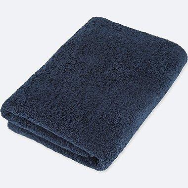 BATH TOWEL, NAVY, medium
