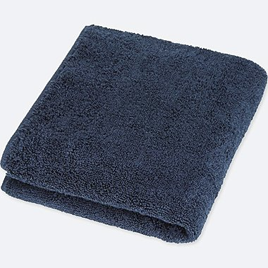 FACE TOWEL, NAVY, medium