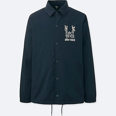 MEN SPRZ NY COACH JACKET (KEITH HARING), NAVY, medium