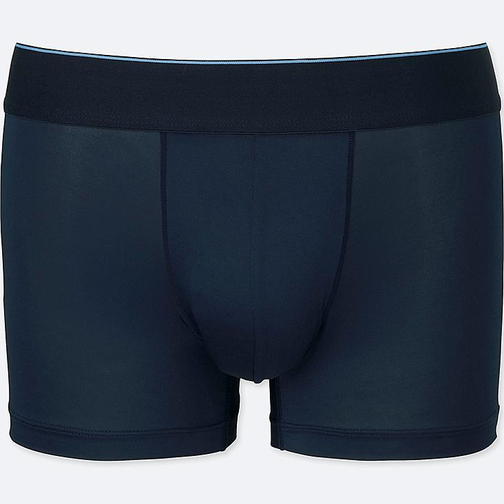 MEN AIRism LOW-RISE BOXER BRIEFS, NAVY, large