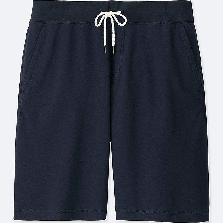MEN JERSEY EASY SHORTS, NAVY, large