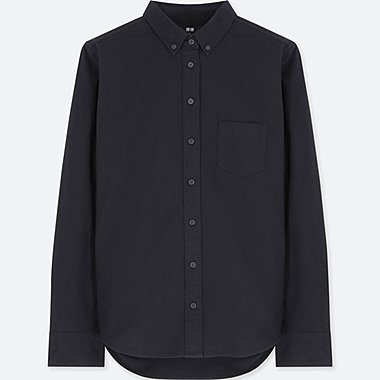 WOMEN OXFORD LONG-SLEEVE SHIRT (ONLINE EXCLUSIVE), NAVY, medium