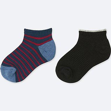 BOYS SHORT SOCKS (2 PAIRS), NAVY, medium