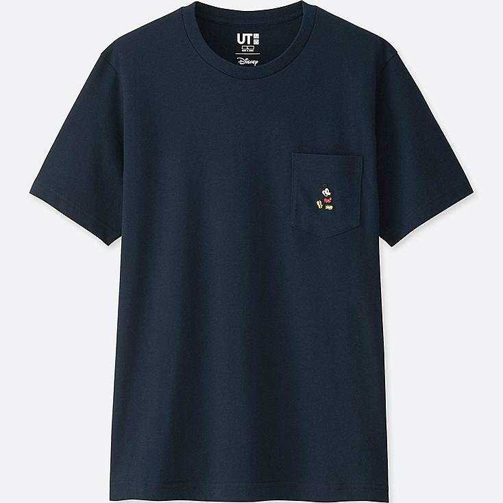 MICKEY STANDS UT (SHORT SLEEVE GRAPHIC T-SHIRT), NAVY, large