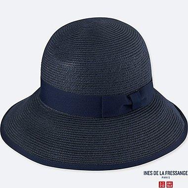 WOMEN IDLF PAPER CAPELINE HAT, NAVY, medium