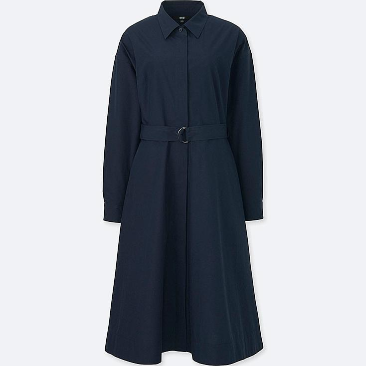 Women Cotton Long Sleeve Shirt Dress Uniqlo Us