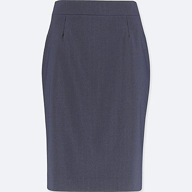 WOMEN STRETCH SKIRT (ONLINE EXCLUSIVE), NAVY, medium