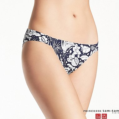 WOMEN PRINCESSE TAM.TAM FLORAL BIKINI BOTTOMS, NAVY, medium