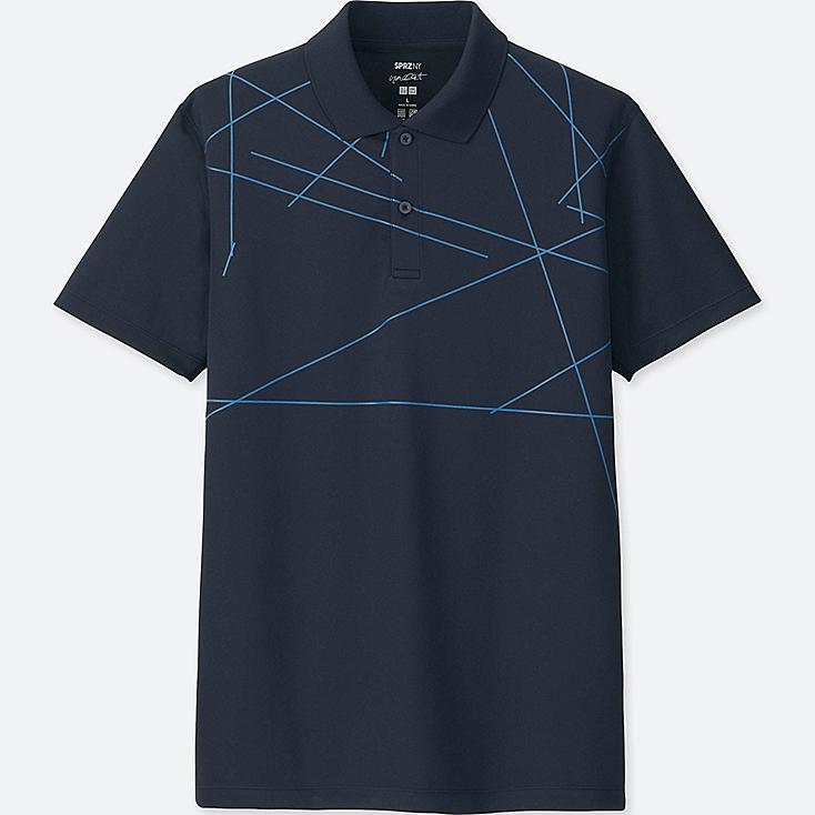 MEN SPRZ NY DRY-EX SHORT-SLEEVE POLO SHIRT (FRANCOIS MORELLET), NAVY, large