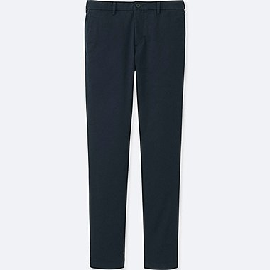 MEN SLIM FIT CHINO FLAT FRONT TROUSERS (L34)