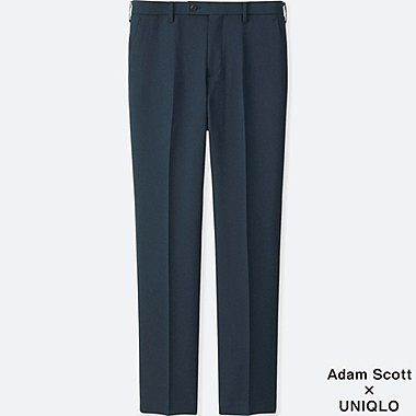 MEN KANDO PANTS (WOOL-LIKE), NAVY, medium