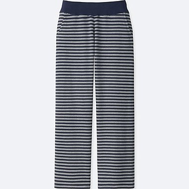 WOMEN ULTRA STRETCH STRIPE LOUNGE PANTS, NAVY, medium