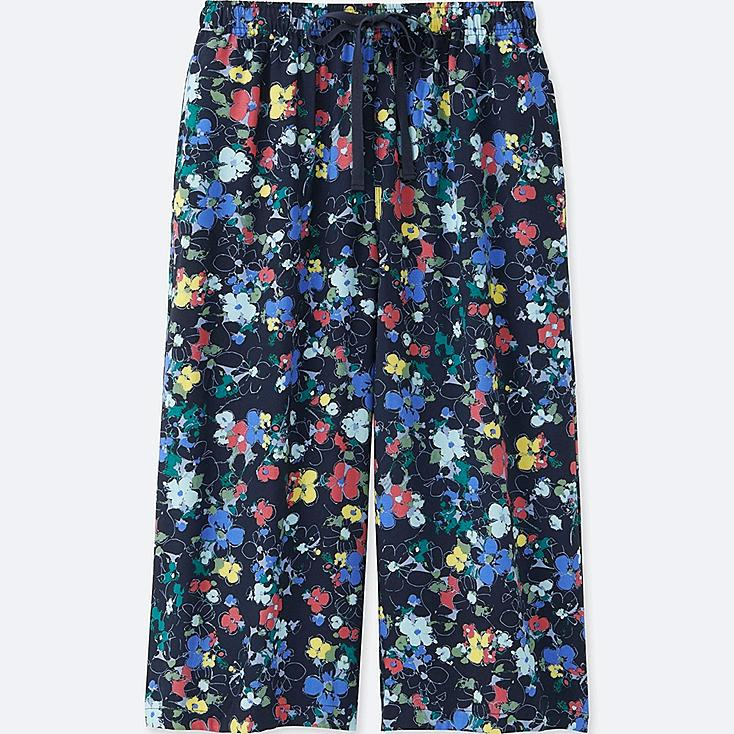 WOMEN RELACO 3/4 FLORAL SHORTS, NAVY, large