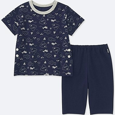 TODDLER DRY SHORT-SLEEVE PAJAMAS, NAVY, medium