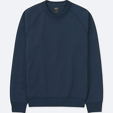 MEN DRY STRETCH LONG-SLEEVE SWEATSHIRT, NAVY, medium