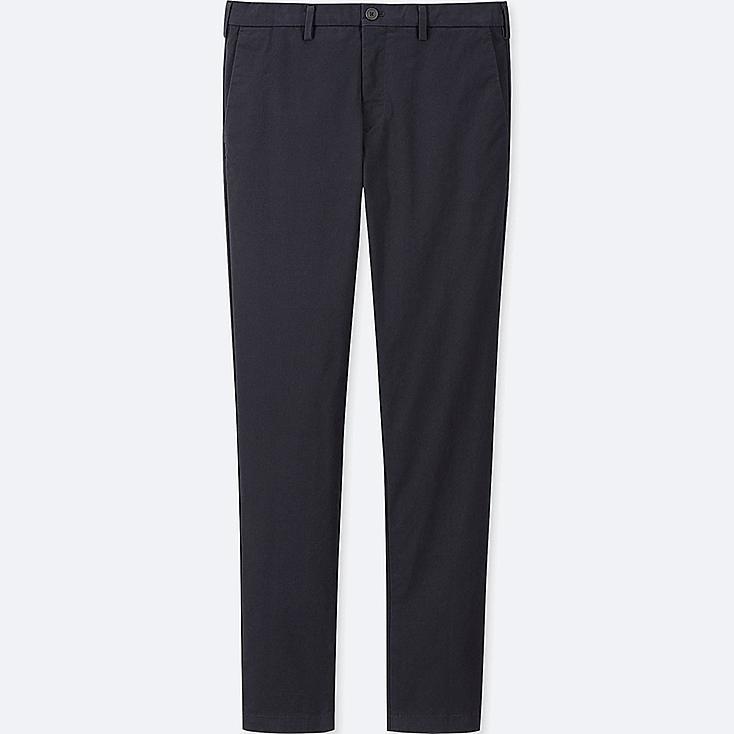 MEN SLIM-FIT CHINO FLAT-FRONT PANTS, NAVY, large