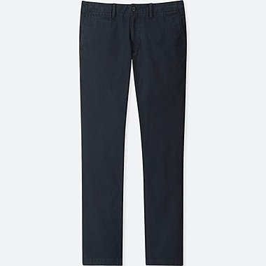 MEN VINTAGE REGULAR-FIT CHINO FLAT-FRONT PANTS, NAVY, medium