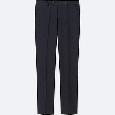 Men Stretch Wool Flat Front Pants Online Exclusive Navy Medium