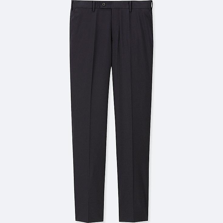 MEN STRETCH WOOL FLAT-FRONT PANTS (ONLINE EXCLUSIVE), NAVY, large