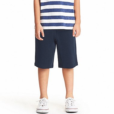 BOYS JERSEY SHORTS, NAVY, medium