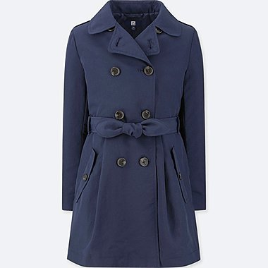 GIRLS DOUBLE BREASTED TRENCH COAT