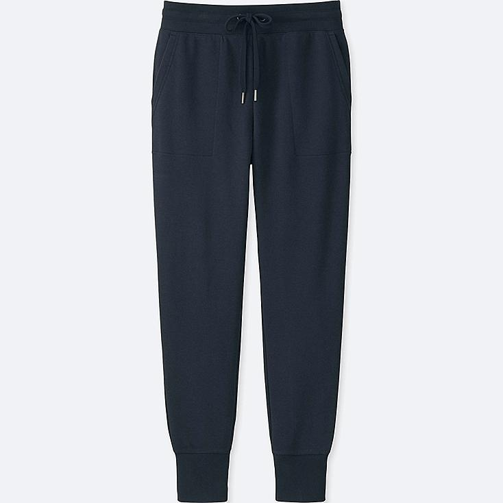 WOMEN SWEATPANTS, NAVY, large