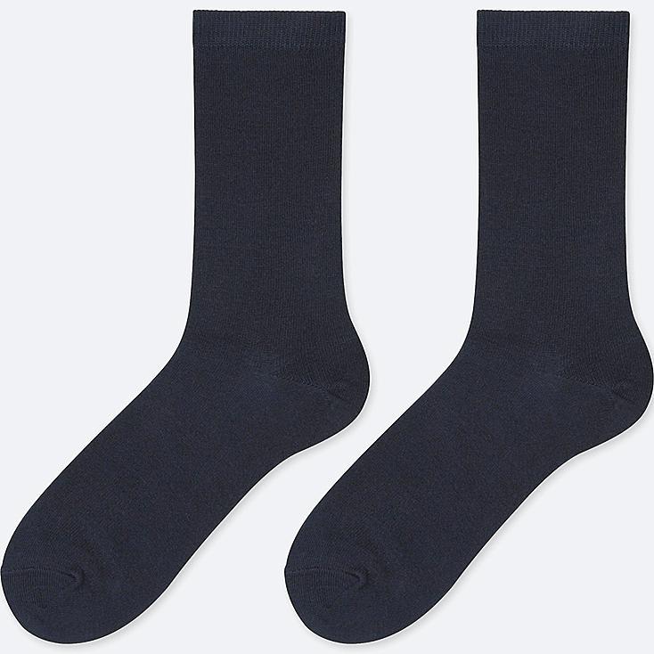 WOMEN HEATTECH SOCKS (2 PAIRS), NAVY, large