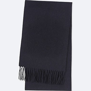 CASHMERE SCARF, NAVY, medium