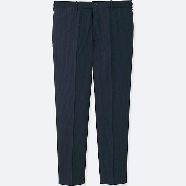 MEN RELAXED ANKLE-LENGTH PANTS (WOOL-LIKE) | Tuggl