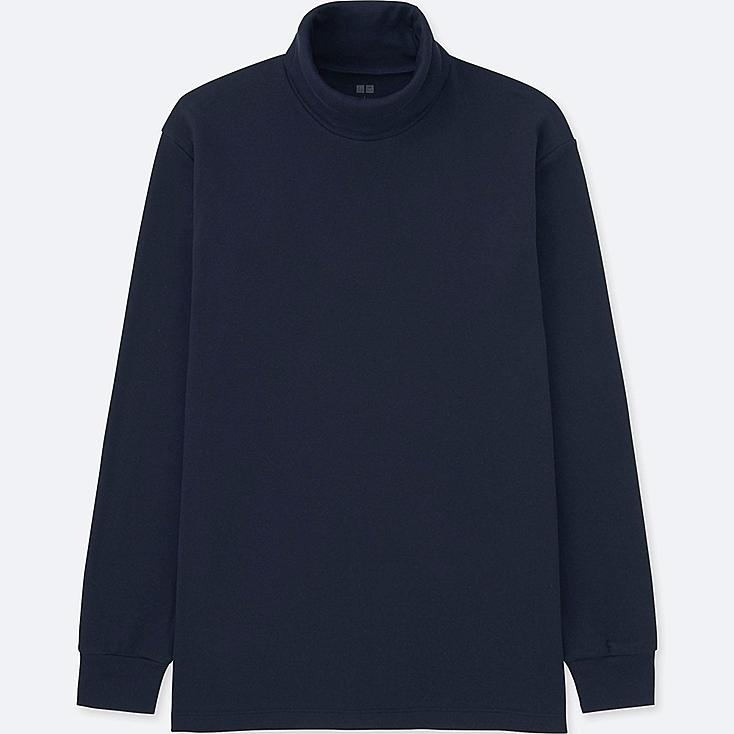MEN SOFT TOUCH TURTLENECK LONG-SLEEVE T-SHIRT, NAVY, large