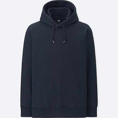 MEN LONG-SLEEVE HOODED SWEATSHIRT, NAVY, medium