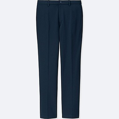 MEN EZY ANKLE-LENGTH PANTS (DRY-EX), NAVY, medium