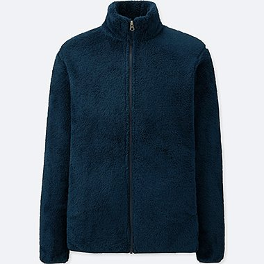 MEN Fluffy Yarn Fleece Full-Zip Jacket