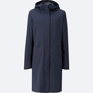 WOMEN BLOCKTECH HOODED COAT