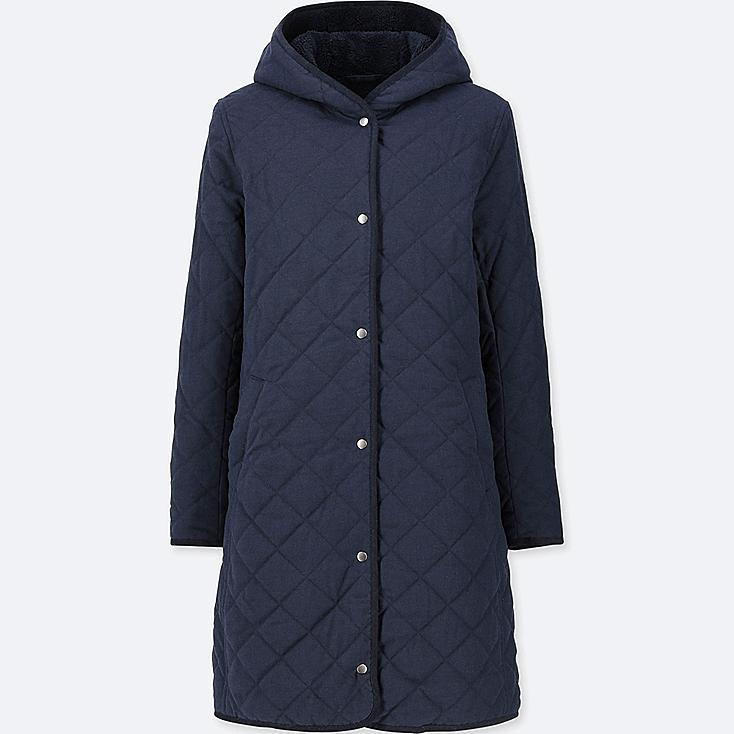 WOMEN PILE-LINED FLEECE COAT (ONLINE EXCLUSIVE), NAVY, large