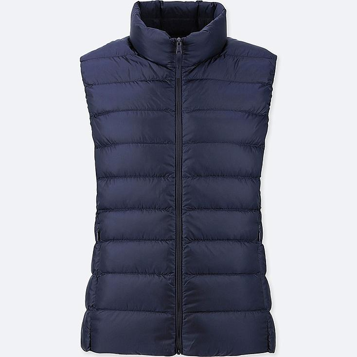 WOMEN ULTRA LIGHT DOWN VEST, NAVY, large