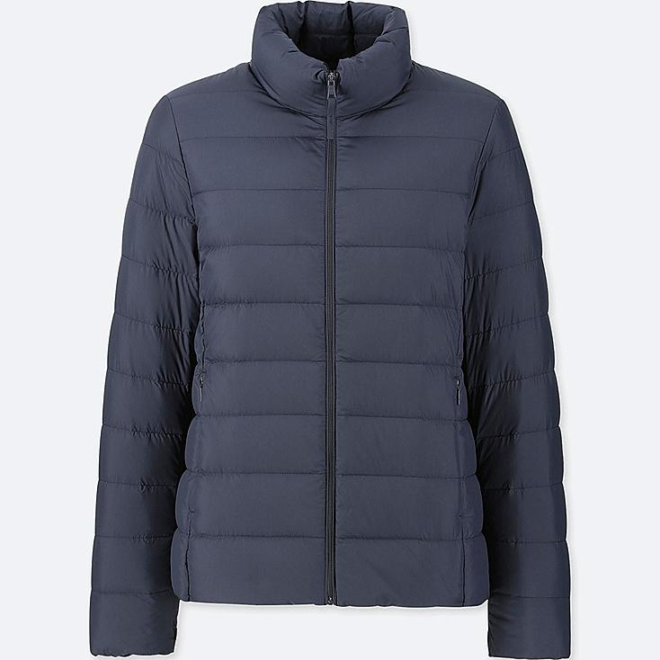 WOMEN ULTRA LIGHT DOWN JACKET, NAVY, large